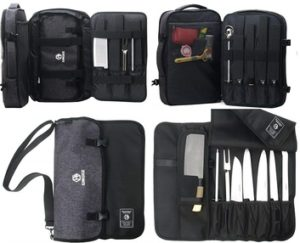 Chef Knife Storage Bag Backpack Culinary Cooking Tool Organizing Case Two Way BALCK-CHEF BACKPACK