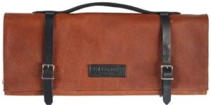 Hardmill Knife Roll - Leather - Cognac